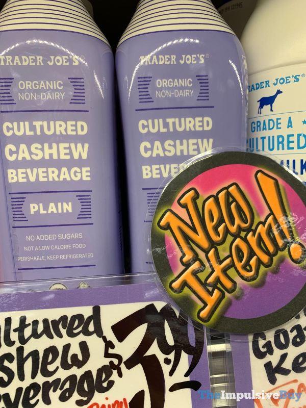 Trader Joe s Organic Non Dairy Cultured Cashew Beverage Plain