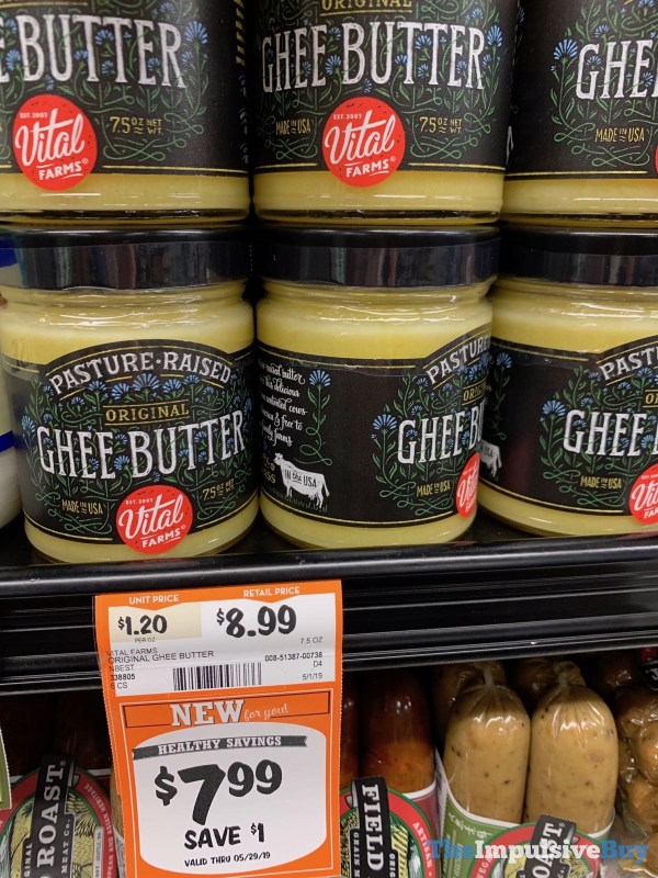Vital Farms Original Ghee Butter