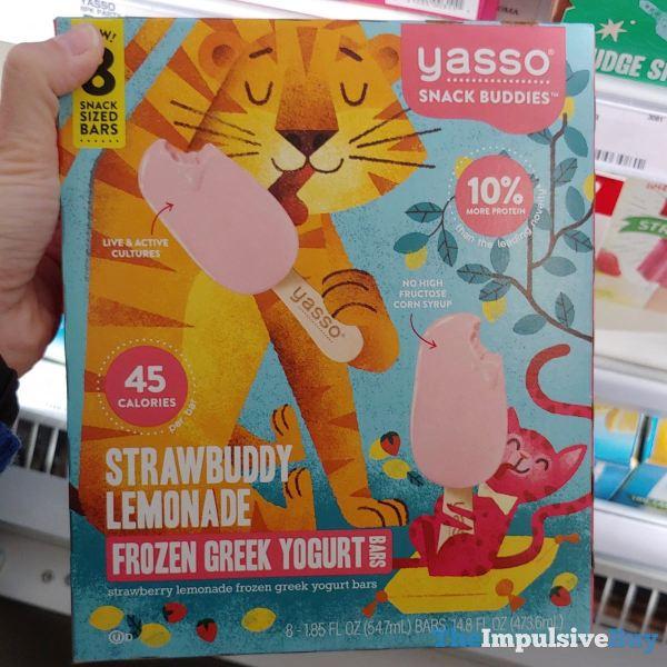 Yasso Snack Buddies Strawbuddy Lemonade Frozen Greek Yogurt Bars