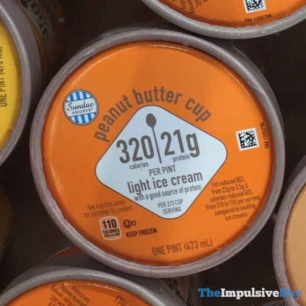 Aldi Sundae Shoppe Peanut Butter Cup Light Ice Cream