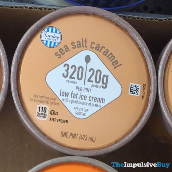 Aldi Sundae Shoppe Salted Caramel Low Fat Ice Cream