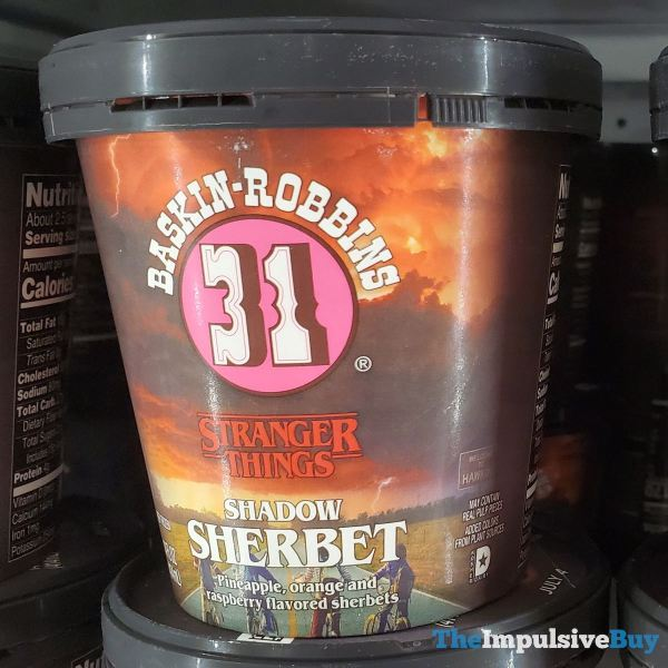 Baskin Robbins Stranger Things Shadow Sherbet Ice Cream