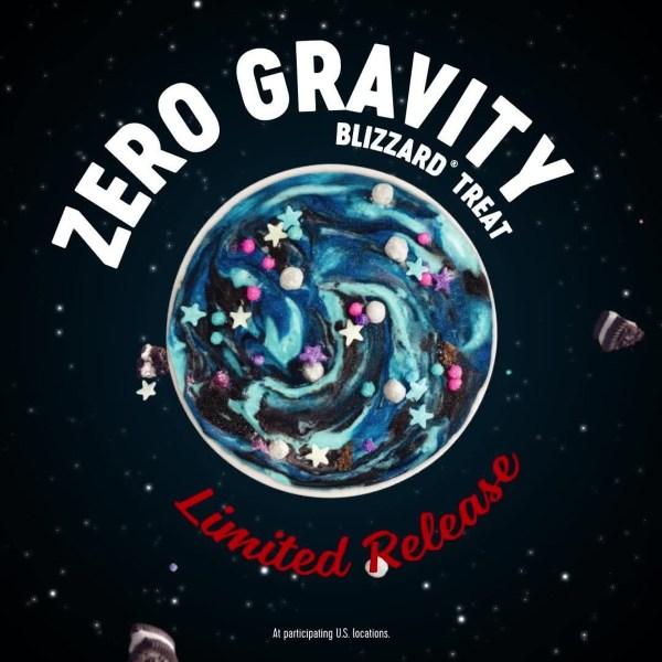 Dairy Queen Limited Release Zero Gravity Blizzard
