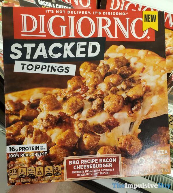 DiGiorno Stacked BBQ Recipe Bacon Cheeseburger Pizza