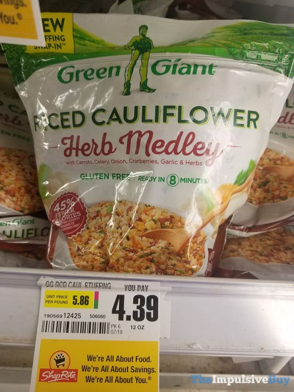 Green Giant Riced Cauliflower Herb Medley