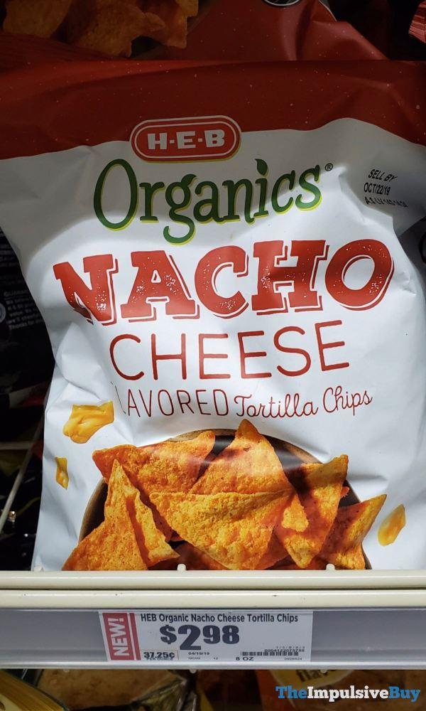 H E B Organics Nacho Cheese Flavored Tortilla Chips