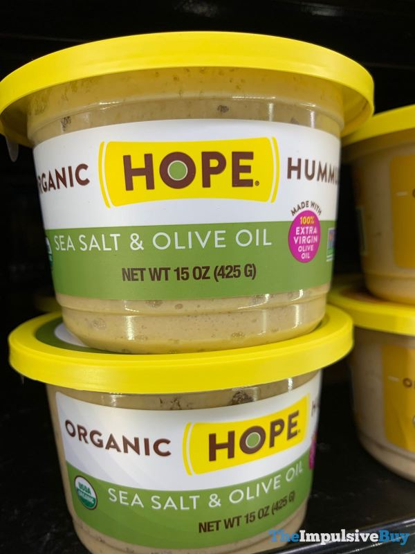 Hope Sea Salt  Olive Oil Organic Hummus