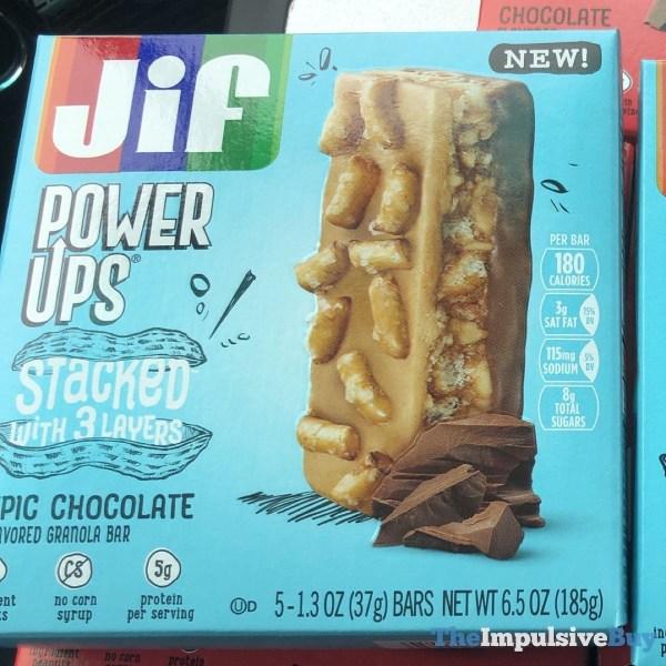Jif Power Ups Stacked Epic Chocolate Granola Bar