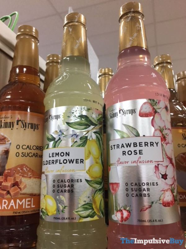Jordan s Skinny Syrups Flavor Infusion Lemon Elderflower and Strawberry Rose