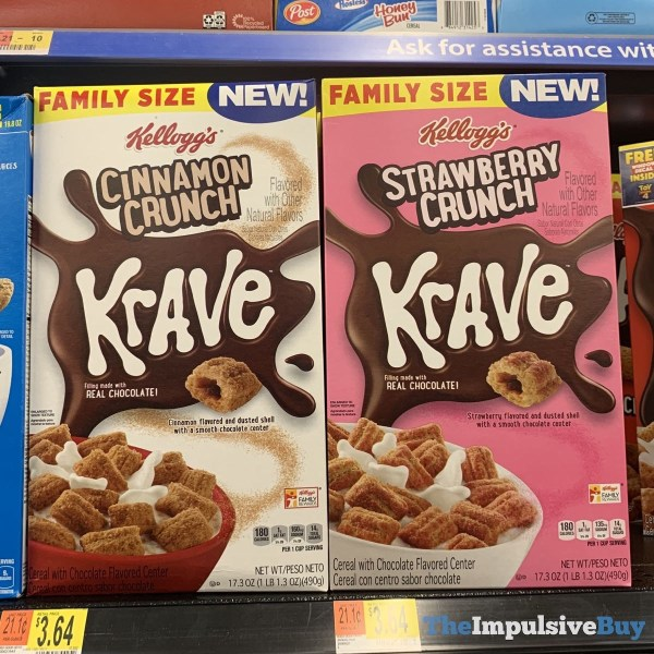 Kellogg s Cinnamon Crunch and Strawberry Crunch Krave