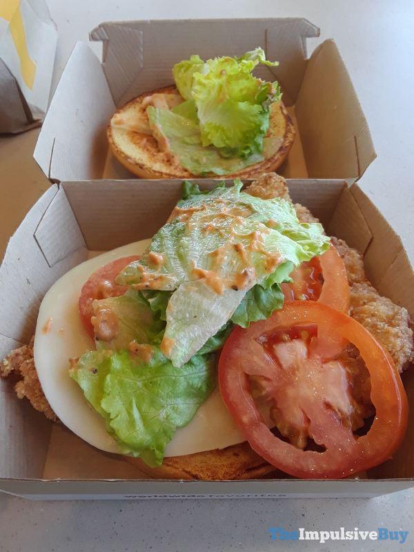 McDonald s Tomato Mozzarella Chicken Sandwich Toppings Crispy