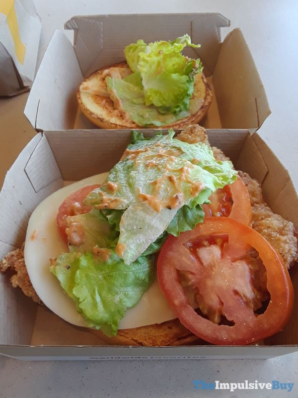 McDonald s Tomato Mozzarella Chicken Sandwich Toppings Crispy