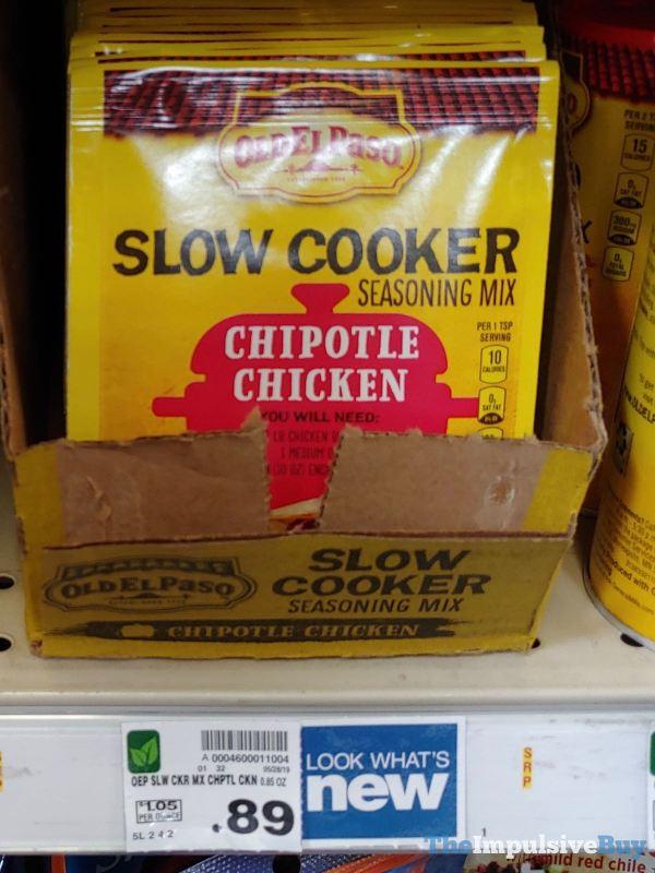 Old El Paso Chipotle Chicken Slow Cooker Seasoning Mix