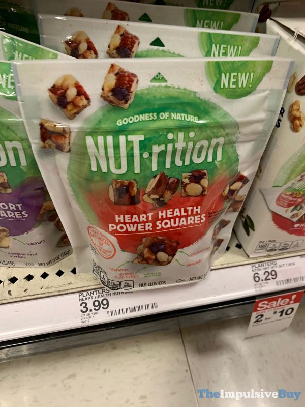 Planters Nut rition Heart Health Power Squares