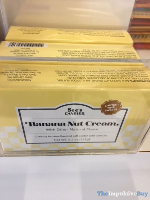 See s Candies Limited Time Sweets Banana Nut Cream
