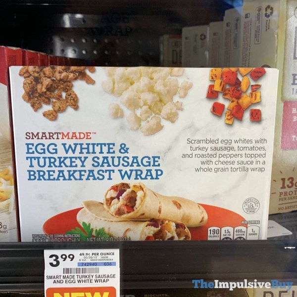 Smartmade Egg White  Turkey Sausage Breakfast Wrap