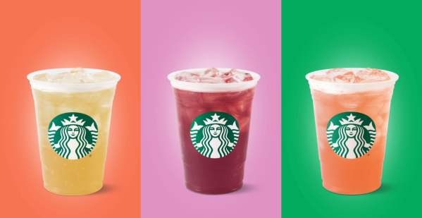 Starbucks Teavana Flavored Iced Tea Lemonades
