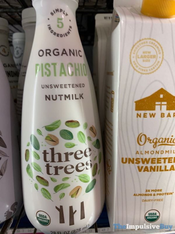 Three Trees Organic Pistachio Unsweetened Nutmilk