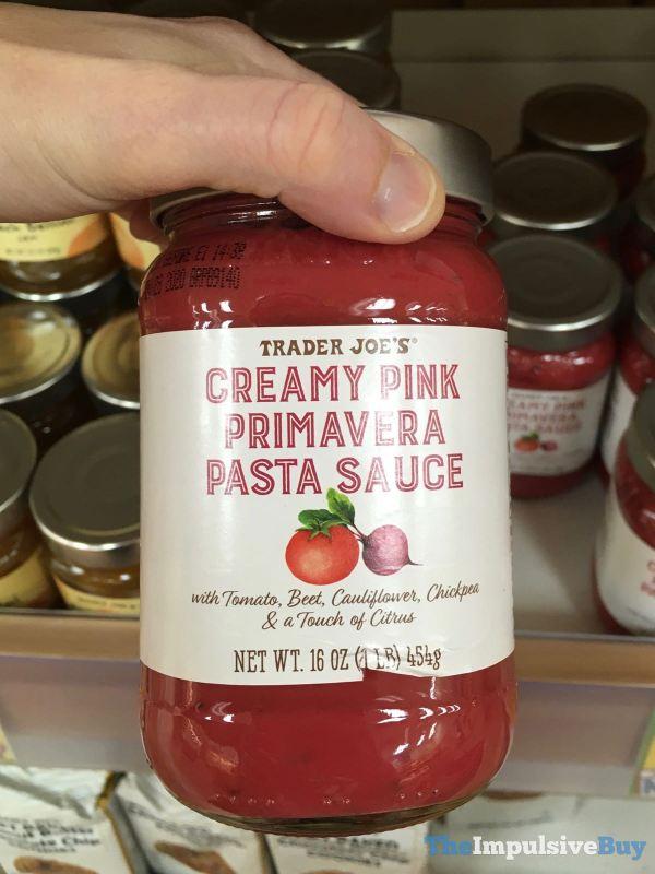 Trader Joe s Creamy Pink Primavera Pasta Sauce