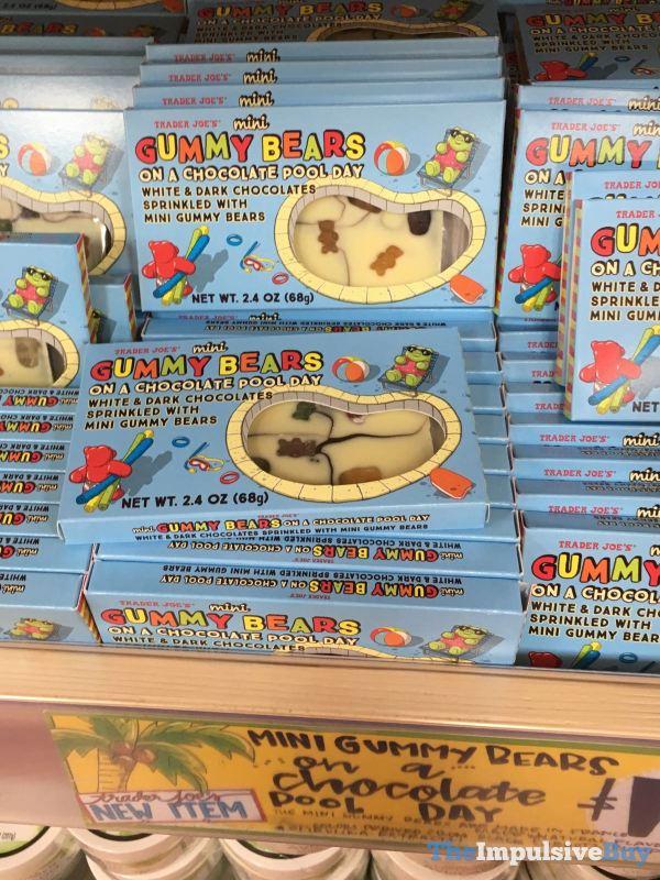 Trader Joe s Mini Gummy Bears on a Chocolate Pool Day