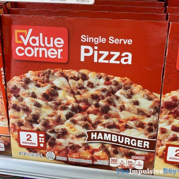 Value Corner Hamburger Single Serve Pizza