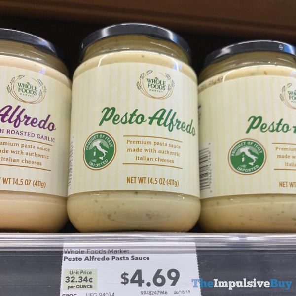 Whole Foods Pesto Alfredo Pasta Sauce