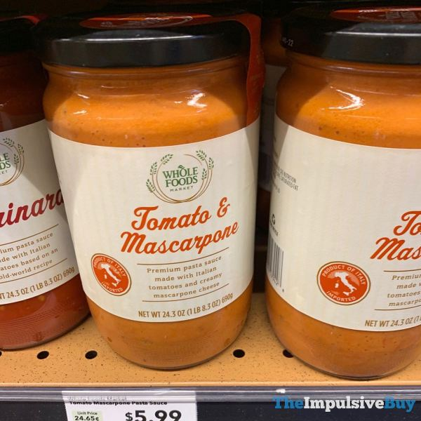 Whole Foods Tomato  Mascarpone Pasta Sauce