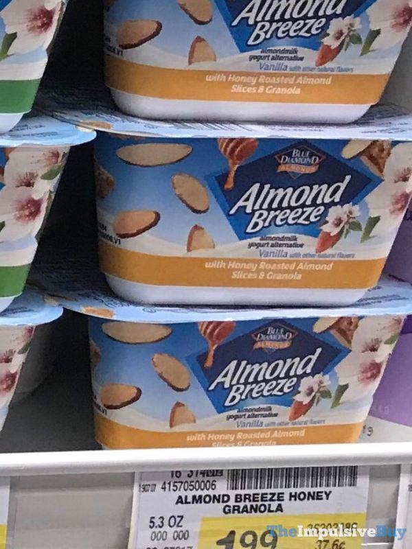 Blue Diamond Almond Breeze Almondmilk Yogurt Alternative with Honey Roasted Almond Slices  Granola