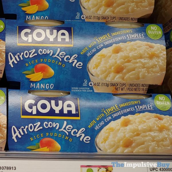 Goya Arroz con Leche Rice Pudding Mango Snack Cups