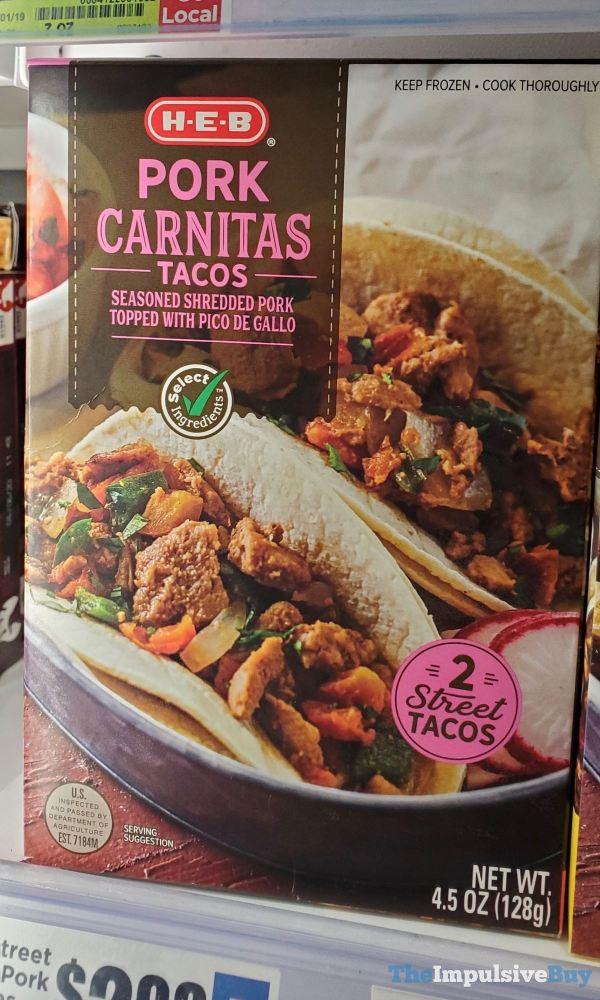 H E B Pork Carnitas Tacos