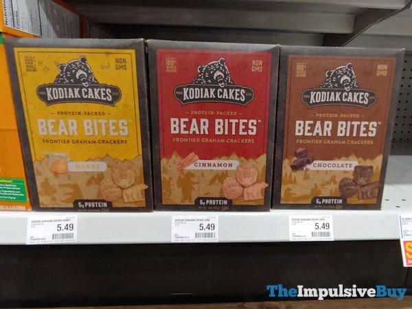 Kodiak Cakes Bear Bites Graham Crackers  Honey Cinnamon and Chocolate