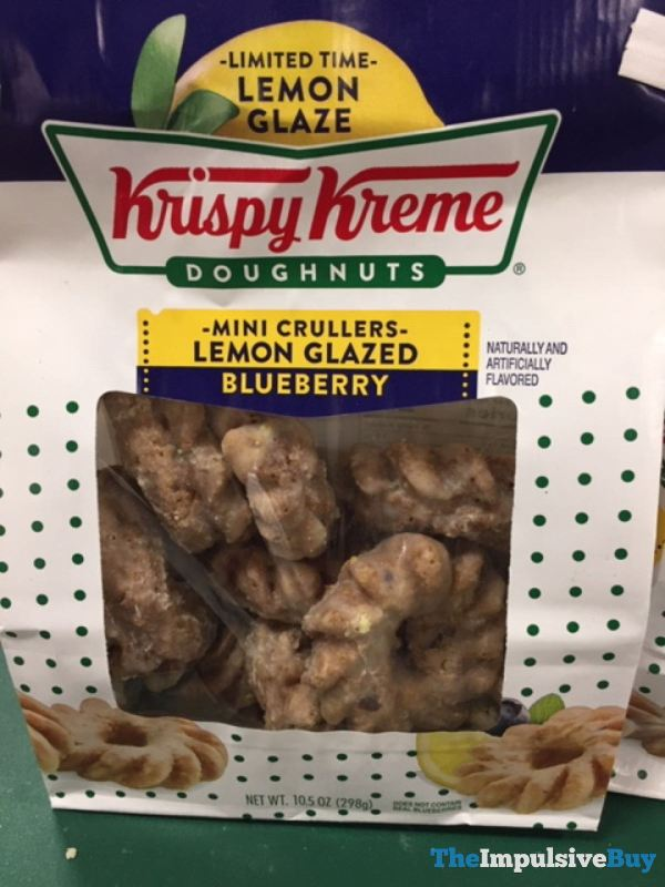 Krispy Kreme Lemon Glazed Blueberry Mini Crullers
