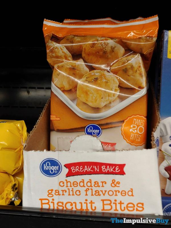 Kroger Break  N Bake Cheddar  Garlic Flavored Biscuit Bites