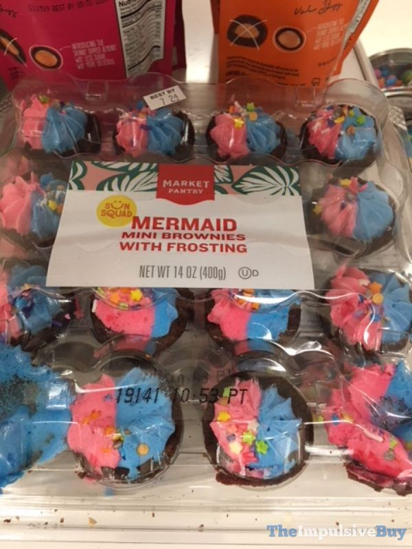 Market Pantry Mermaid Mini Brownies with Frosting