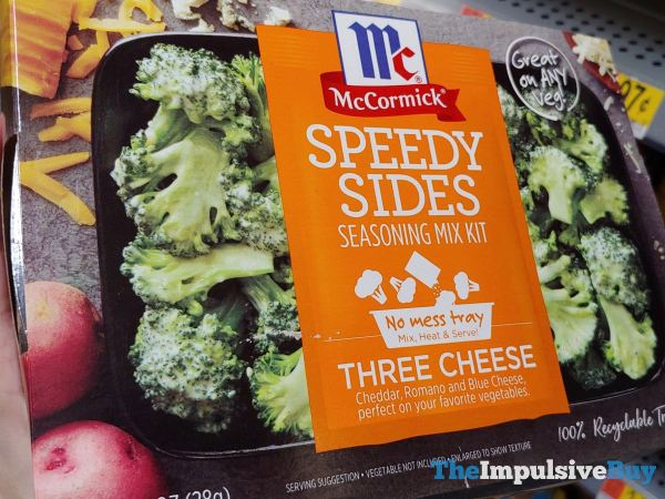 McCormick Three Cheese Speedy Sides Seasoning Mix Kit