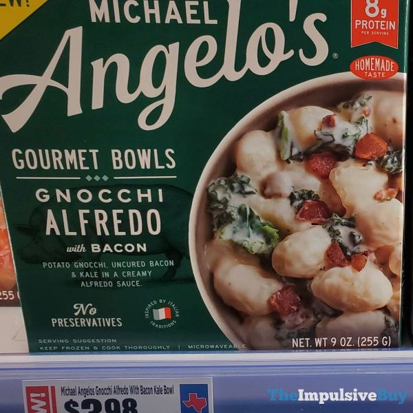 Michael Angelo s Gourmet Bowls  Gnocchi Alfredo with Bacon