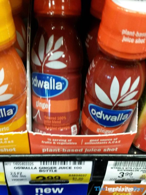 Odwalla Ginger Plant Based Juice Shot
