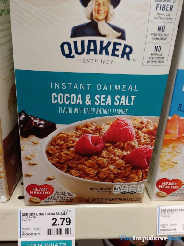 Quaker Cocoa  Sea Salt Instant Oatmeal