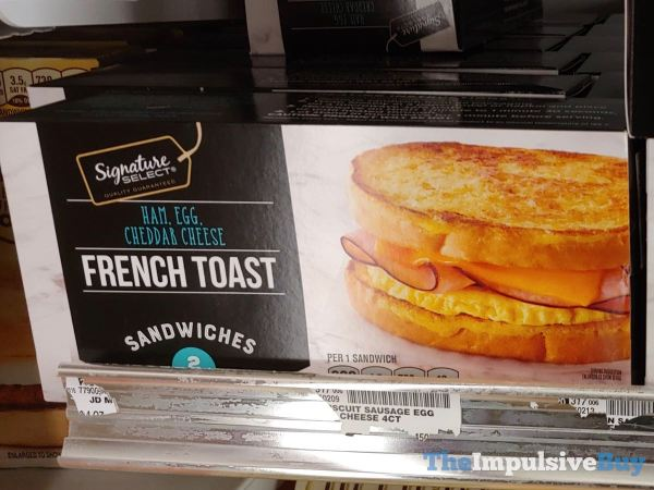 Signature Select Ham Egg Cheddar Cheese French Toast Sandwiches