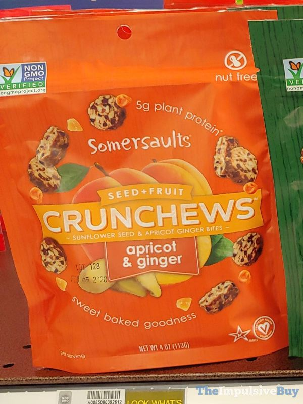 Somersaults Seed + Fruit Crunchews Apricot  Ginger