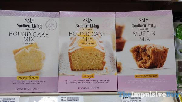 Southern Living Kitchen Mixes  Meyer Lemon Pound Cake Orange Pound Cake and Mini Pecan Pie Muffin Mix