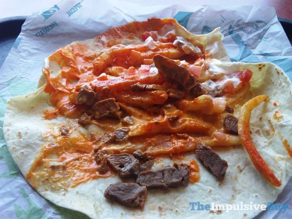 Taco Bell Steak Reaper Fries Burrito Innards