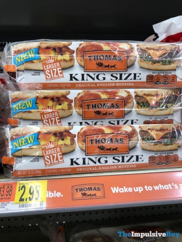 Thomas King Size Original English Muffins