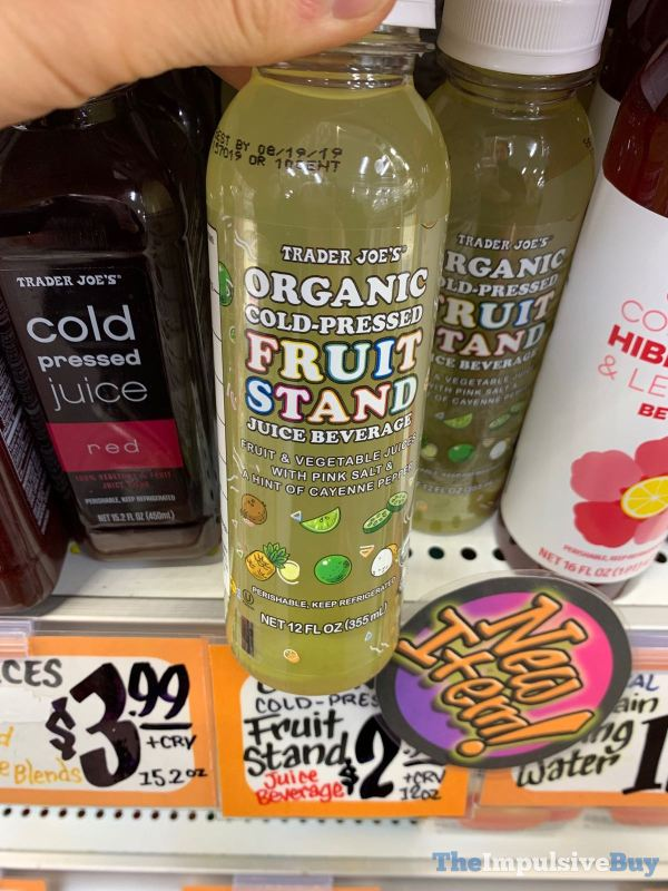 Trader Joe s Organic Cold Pressed Fruit Stand Juice Beverage