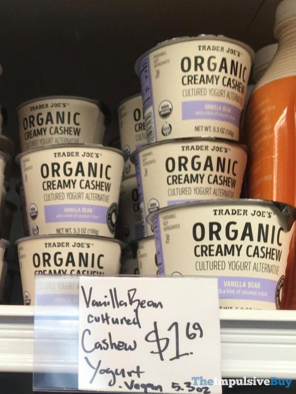 Trader Joe s Vanilla Bean Organic Creamy Cashew Cultured Yogurt Alternative