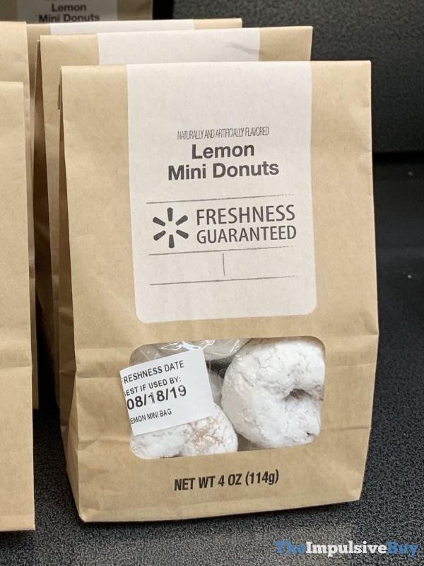 Walmart Lemon Mini Donuts