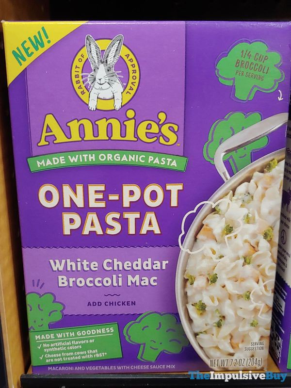 Annie s One Pot Pasta White Cheddar Broccoli Mac