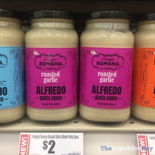 Famiglia Romana Roasted Garlic Alfredo Pasta Sauce