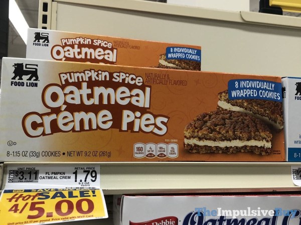 Food Lion Pumpkin Spice Oatmeal Creme Pies