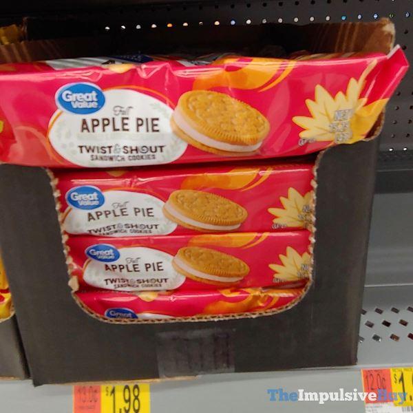 Great Value Fall Apple Pie Twist  Shout Sandwich Cookies